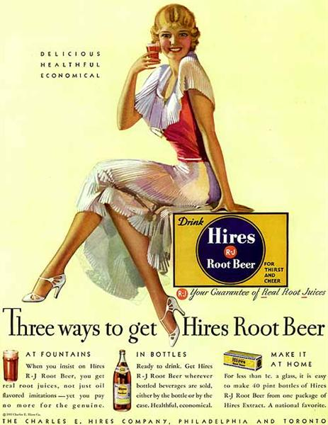 Hires Root Beer, 1933 - Рольф Армстронг