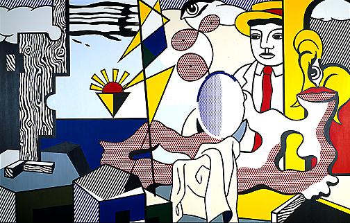 Figures with sunset, 1978 - Roy Lichtenstein
