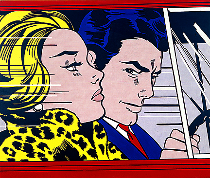 In the car, 1963 - Roy Lichtenstein
