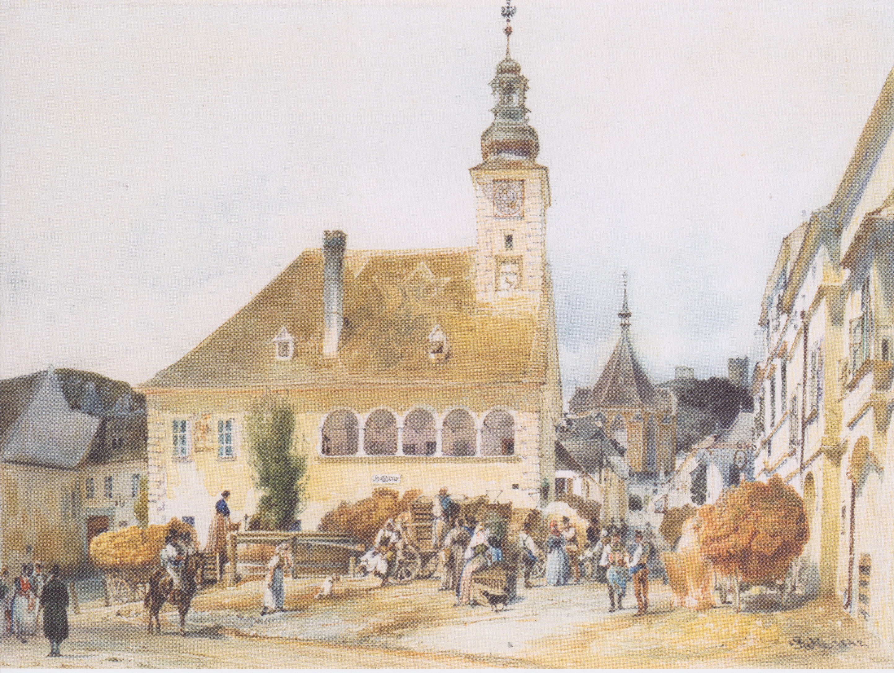 The Town Hall in Mödling, 1842