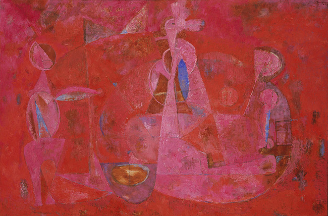 Art of the day rufino tamayo tres personajes for Mural rufino tamayo