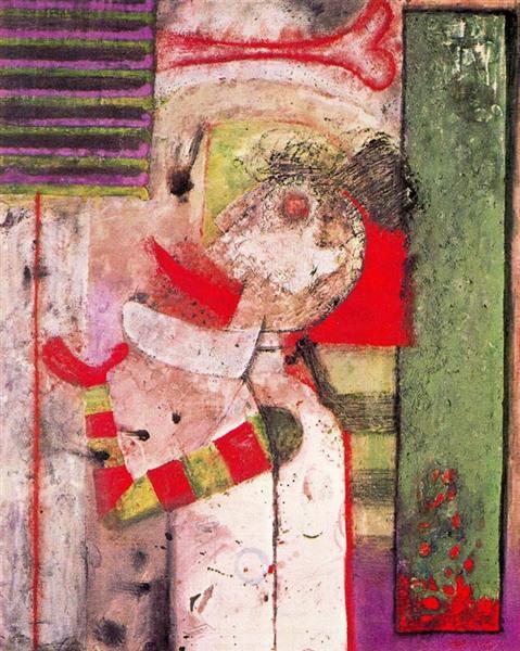Hombre sacando la lengua, 1967 - Rufino Tamayo