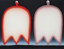 Two different colors in a line - Sadamasa Motonaga
