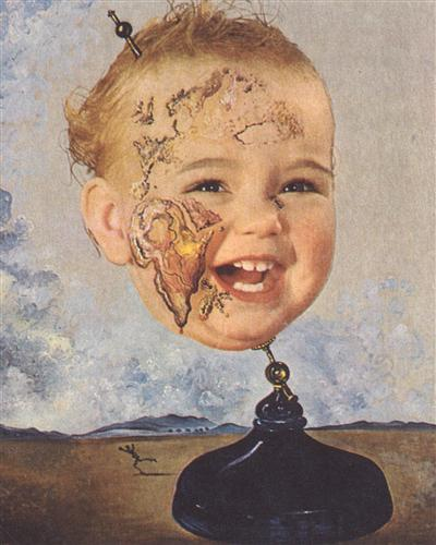 Baby Map of the World - Salvador Dali