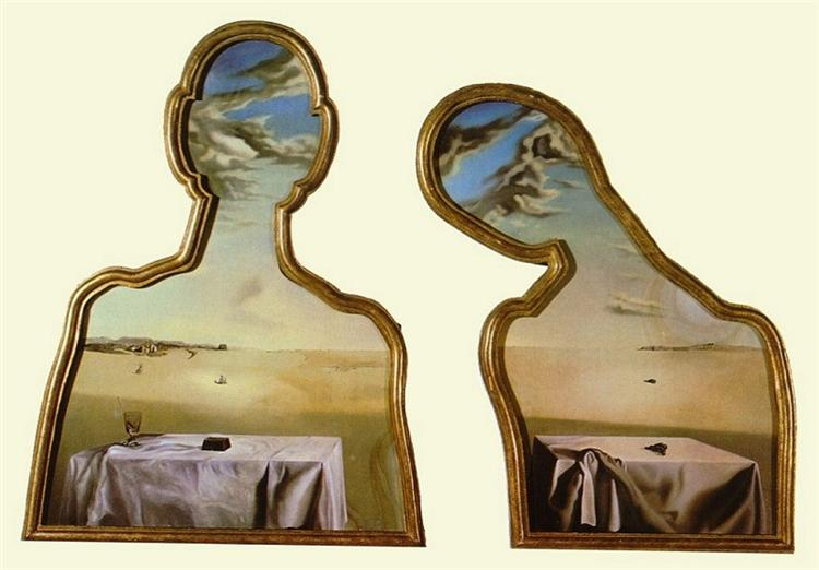 Couple with Their Heads Full of Clouds, 1936 - Salvador Dali