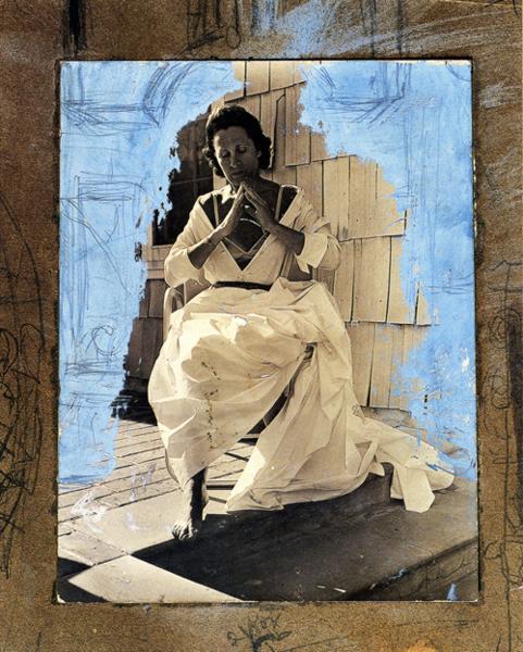 Gala as Madonna of Port Lligat, 1950