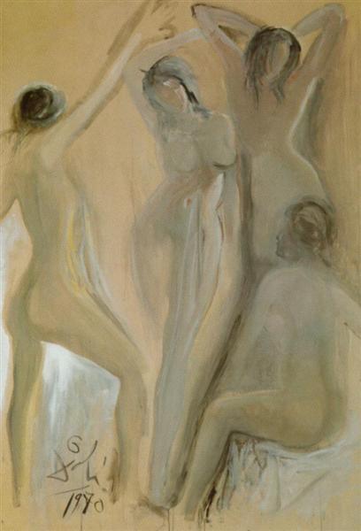 Les Dlemoilselles D'Avignon (The Girls of Avignon), 1970 - Сальвадор Дали