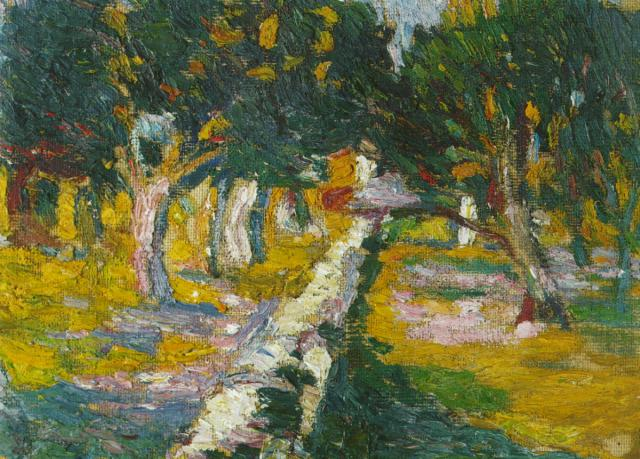 Orchard at Llane (Cadaques), 1919 - 1920 - Salvador Dali ...
