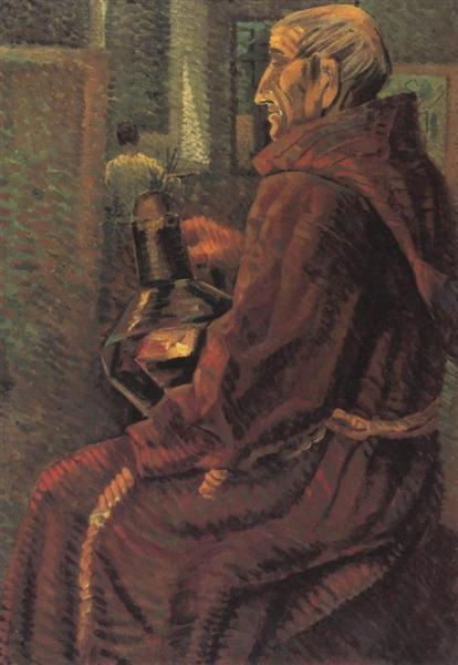 Seated Monk, 1925 - Salvador Dali