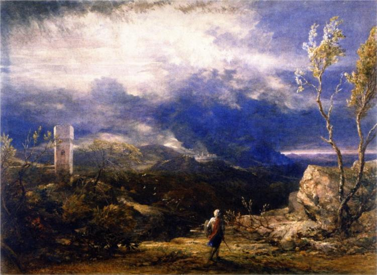 Christian Descending into the Valley of Humiliation - Samuel Palmer