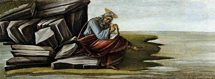 St John on Patmos, 1490 - 1492 - Sandro Botticelli