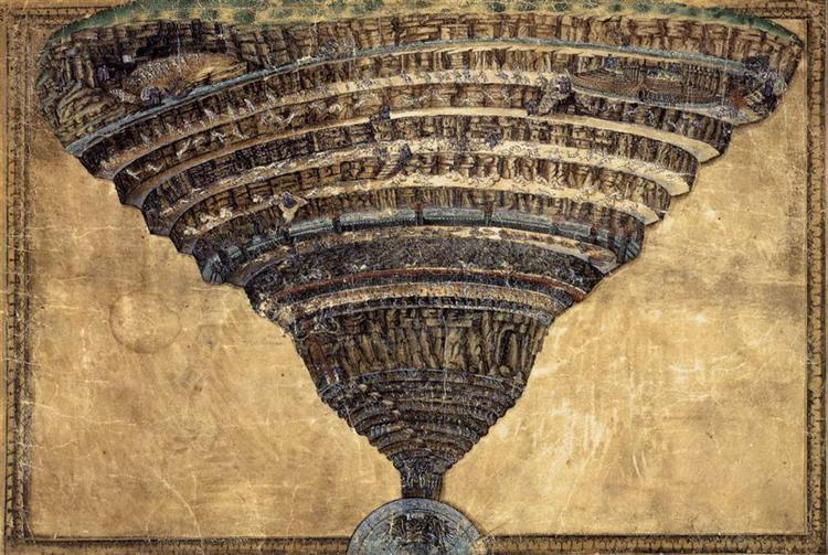 The Abyss of Hell, 1480 - Sandro Botticelli