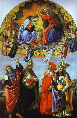 The Coronation of the Virgin (Altarpiece of St. Mark) - Sandro Botticelli