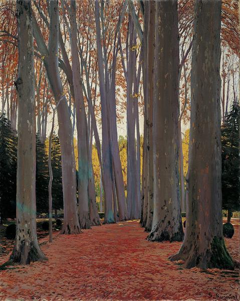 Avenue of Plane Trees, 1916 - Santiago Rusinol