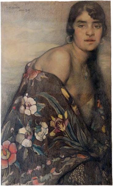 La criolla del mantón, 1915 - Saturnino Herrán