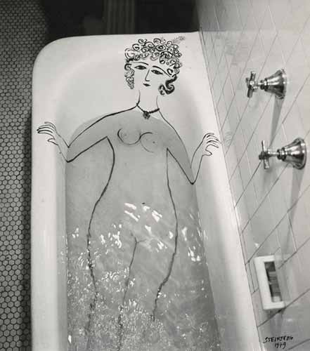 Girl in Bathtub - Saul Steinberg