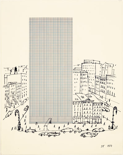 Graph Paper Architecture, 1954 - Saul Steinberg