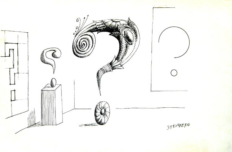 Untitled (Question Marks) - Saul Steinberg