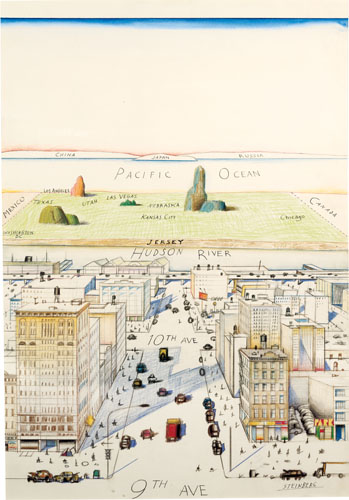 View of the World from 9th Avenue, 1976 - Saul Steinberg