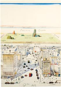 View of the World from 9th Avenue - Saul Steinberg