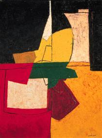 Composition abstraite aux traits - Серж Поляков