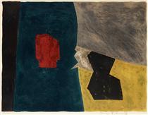 Composition bleue, jaune et grise - Серж Поляков