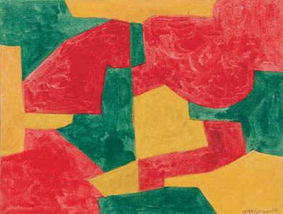 Composition verte, rouge et jaune - Serge Poliakoff