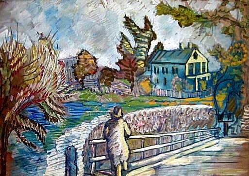 View from the Bridge, c.1920 - Сергей Судейкин