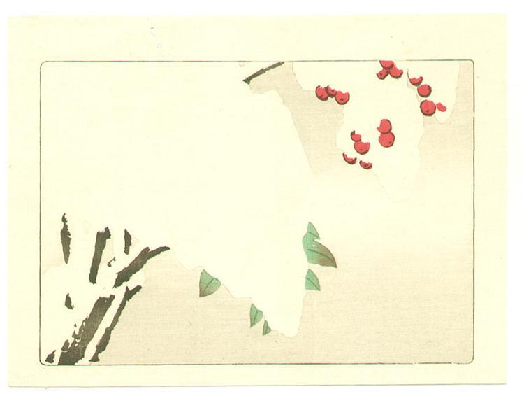 Nandin Tree - Hana Kurabe, 1890 - Shibata Zeshin