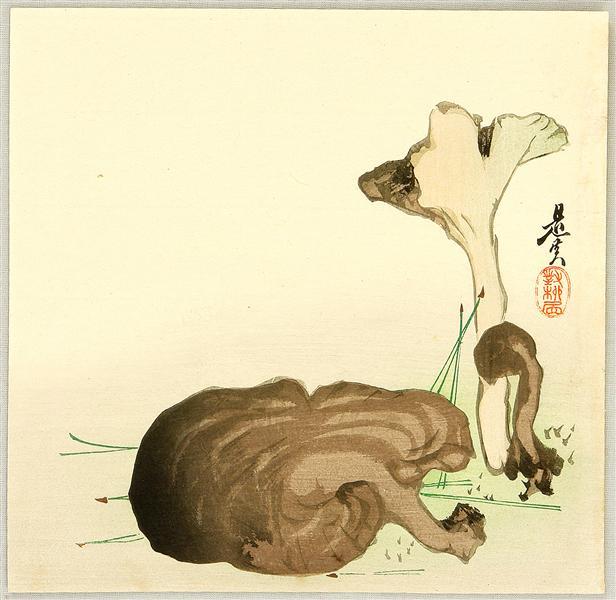 Wild Mushrooms, 1880 - Шибата Зешин