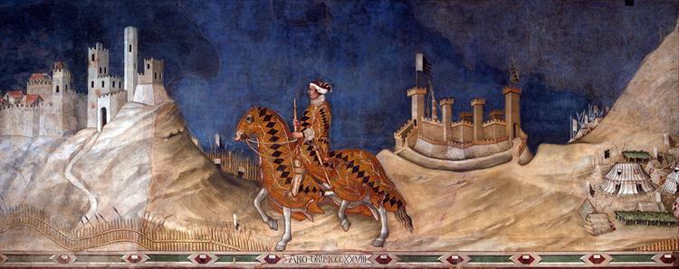 Guidoriccio da Fogliano at the siege of Montemassi, c.1328 - c.1330 - Simone Martini