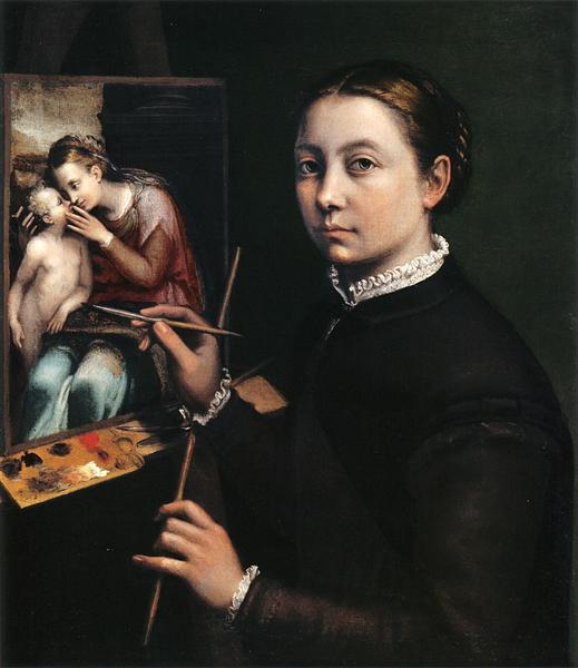 Self-portrait at the easel, 1556 - Sofonisba Anguissola
