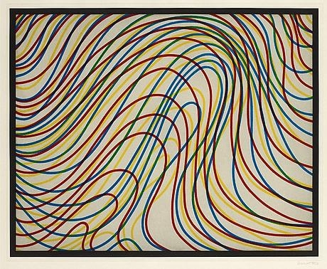 Wavy Lines with Black Border, 1997 - Sol LeWitt