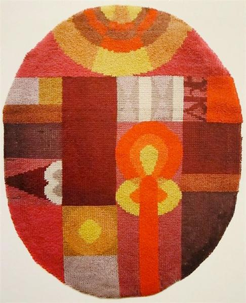 Oval Composition with Abstract Motifs, 1922 - Sophie Taeuber-Arp