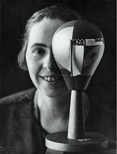 Self-portrait with Dada-Kopf (Dada Head), 1920 - Sophie Taeuber-Arp