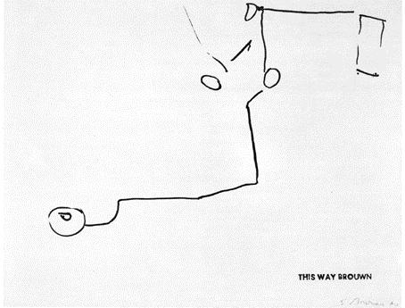 This way Brouwn, 1963 - Stanley Brouwn