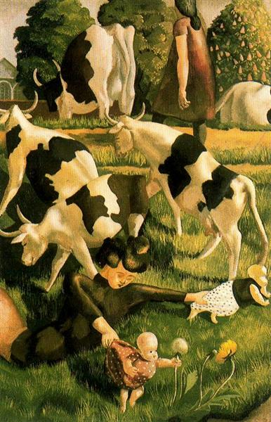 Cows, 1950 - Stanley Spencer