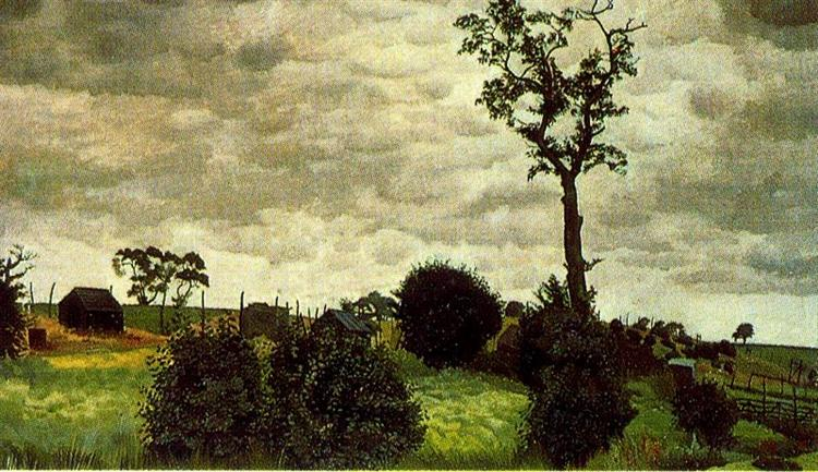 Tree and Chicken Coops, 1953 - Stanley Spencer