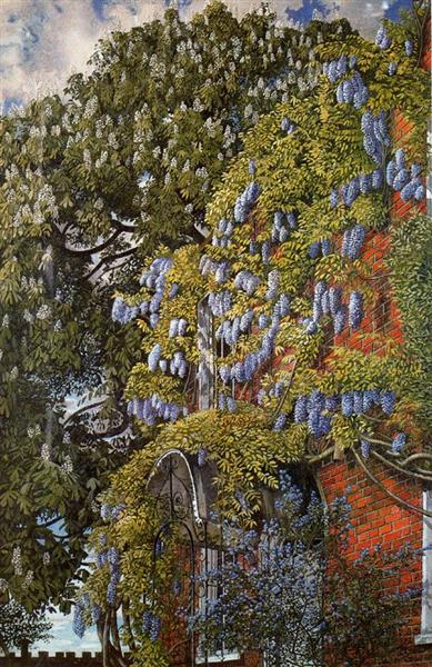 Wisteria at Englefield, 1954 - Stanley Spencer