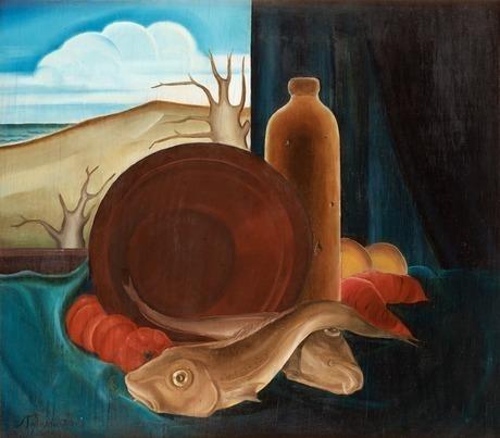 Stilleben med fisk, 1926 - Свен Джонсон