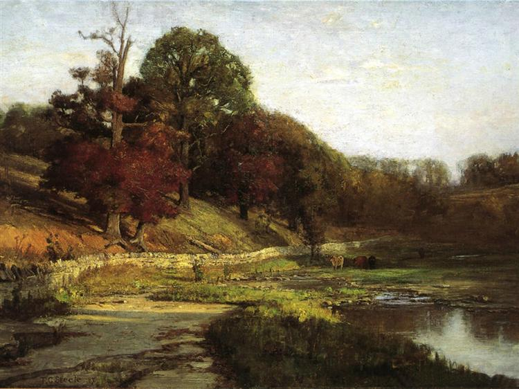 The Oaks of Vernon, 1887 - T. C. Steele