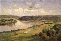 The Ohio river from the College Campus, Honover - Теодор Клемент Стил