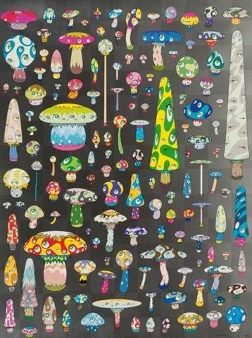 Posi Mushroom, 2007 - Takashi Murakami