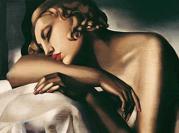 The Sleeper, 1932 - Tamara de Lempicka - WikiArt.org
