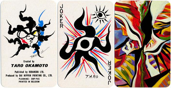 Taro Okamoto playing cards, 1977 - Taro Okamoto
