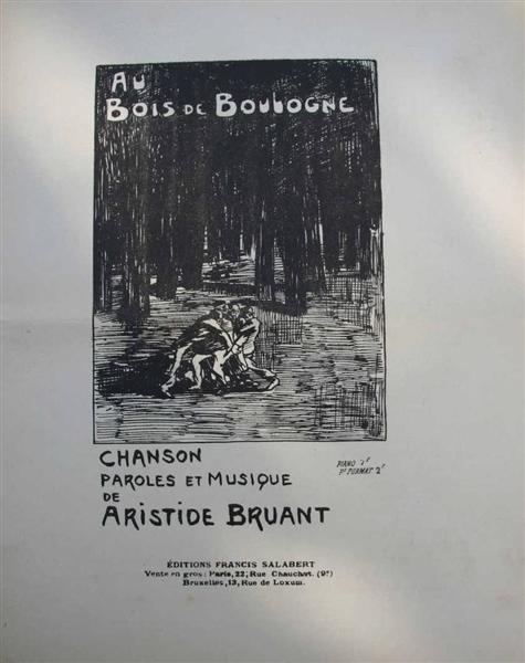 Au Bois de Boulogne, 1890 - Theophile Steinlen