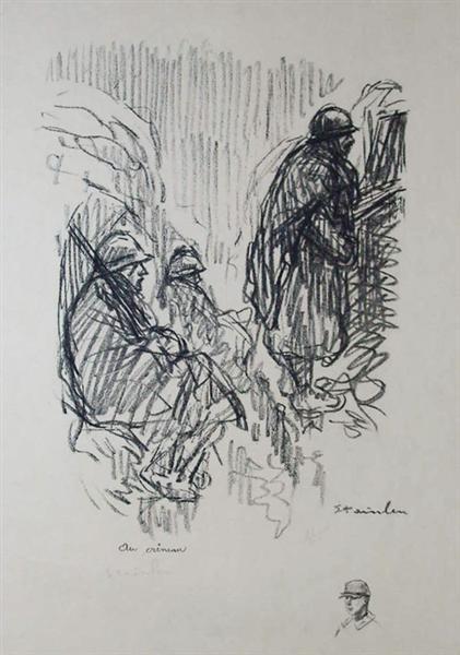 Au Creneau, 1917 - Theophile Steinlen
