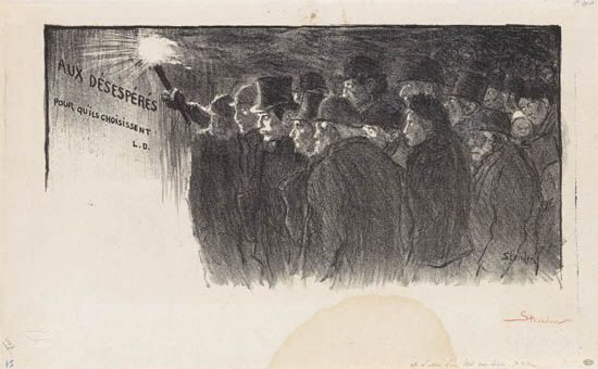 Aux Desesperes Pour Qu-ils Choisissent, 1898 - Theophile Steinlen