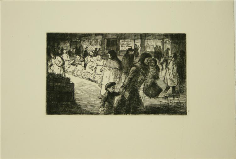 Bout de Rue Le Soir, 1902 - Theophile Steinlen