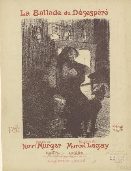 Poster for La Ballade Du Desespere - Theophile Steinlen